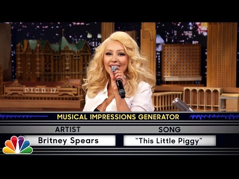 funny-Christina-Aguilera-singing-this-little-piggy-Britney
