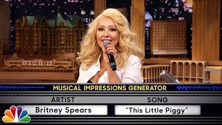Wheel of Musical Impressions with Christina Aguilera(, 2015-02-24T05:09:08.000Z)