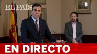 DIRECTO | PEDRO SÁNCHEZ Y PABLO IGLESIAS presentan su programa de GOBIERNO