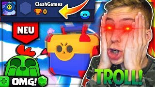 *KRASSES* OPENING AUF TROLL ACCOUNT!! 😱💥 ★ 0 Pokale 🏆 Mini! | Brawl Stars deutsch