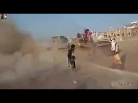 War | War in Yemen - Heavy Firefighs During Intense Clashes in Aden