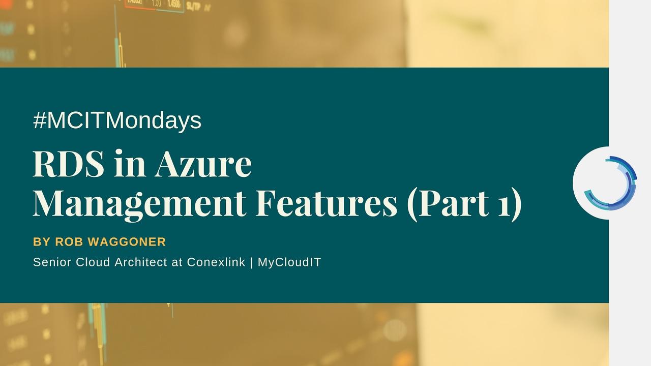 Manage Remote Desktop Services in Azure (Part 1)