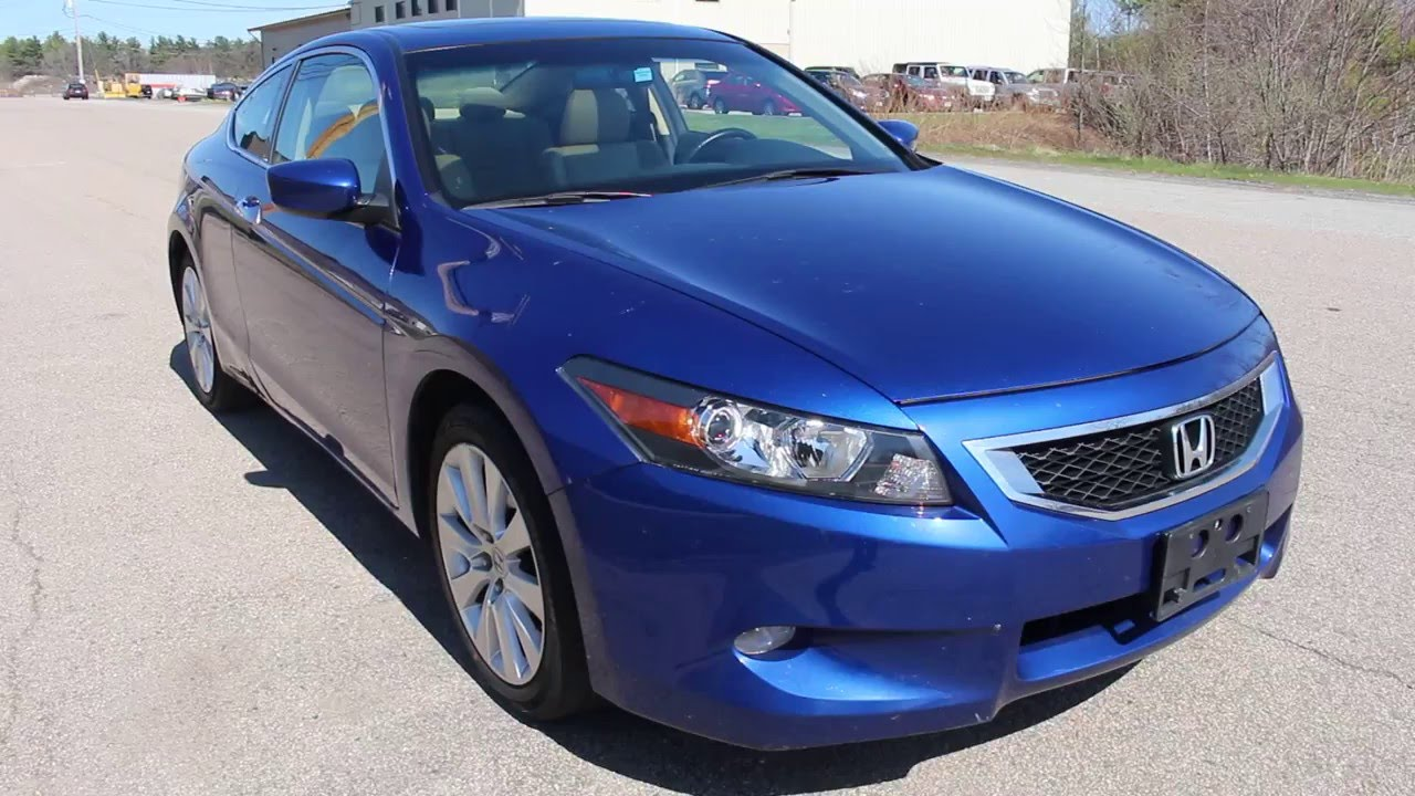 2010 Blue Honda Accord Coupe EX L V6