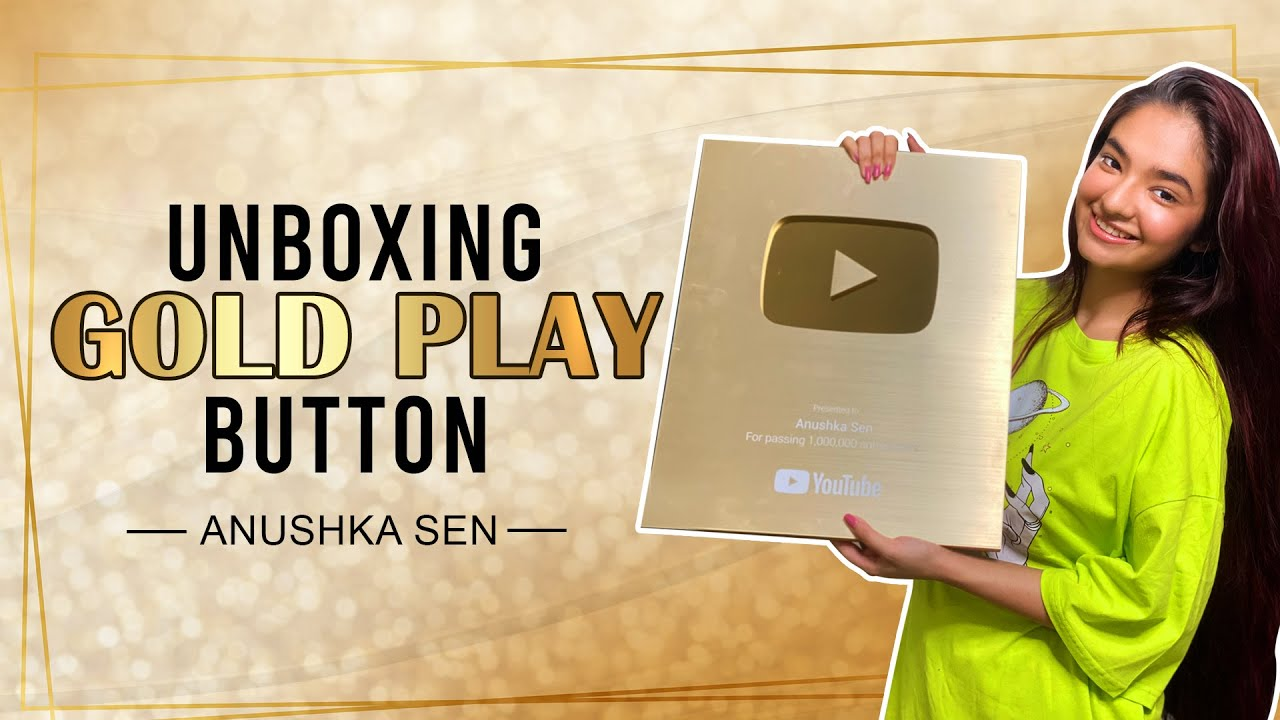 Unboxing Gold Play Button | Thank You Anushkians for 1M subscribers!! | Anushka Sen