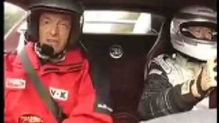 Bugatti Veyron top speed test track drive-by.