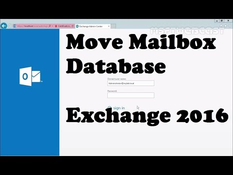 How To Move Mailbox Database In Exchange 2016