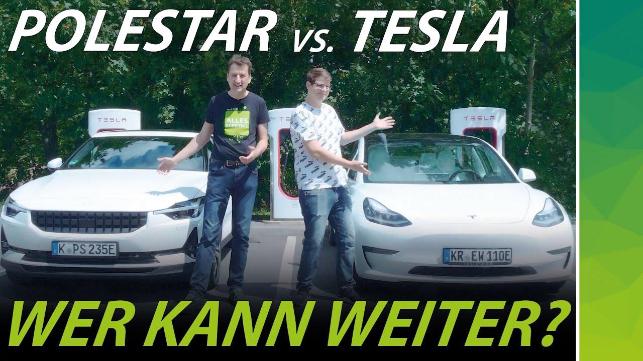 Download Polestar 2 vs. Tesla Model 3   Reichweiten-Duell der direkten Konkurrenten   @felixba
