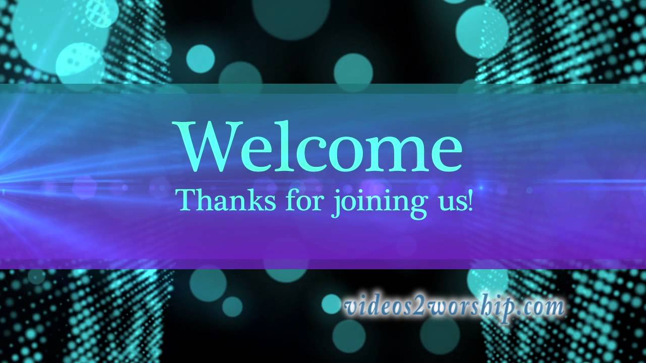 welcome to church loopable motion background youtube