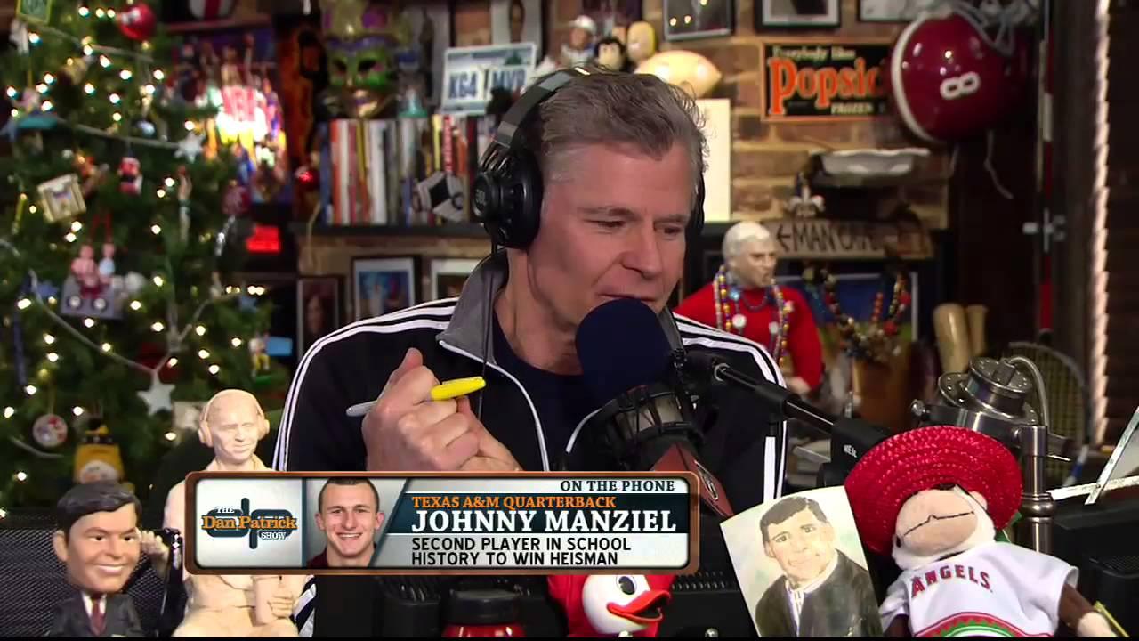 Johnny Manziel on the Dan Patrick Show 12/13/13 - YouTube