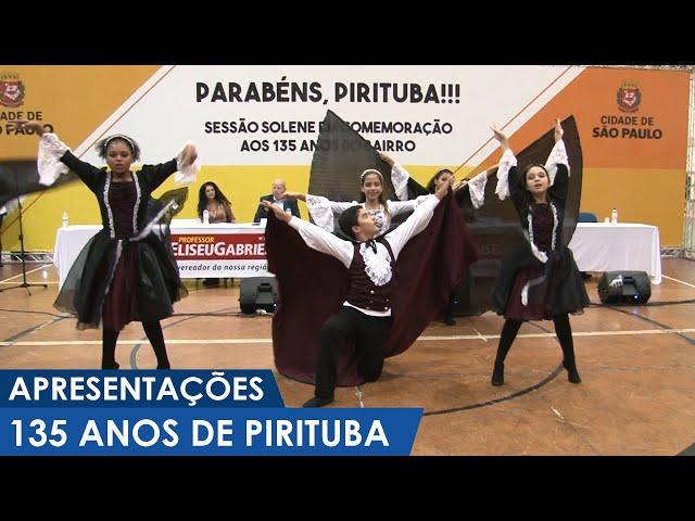 Apresentações de dança e bandas no Aniversário de 135 anos de Pirituba