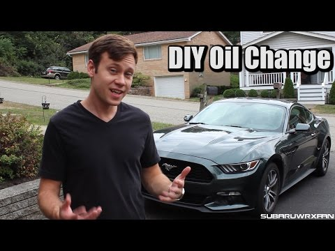 How to Change Oil in a 2015 Mustang EcoBoost!