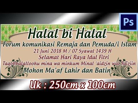 Cara Desain Spanduk Halal Bi Halal Hari Raya Ied Dengan Photoshop