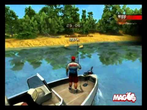 Mag 39 64 wii rapala pro bass fishing youtube for Fishing and game