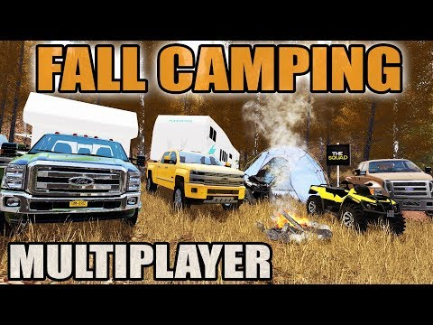FARMING SIMULATOR 2017 | FALL CAMPING DOWN BY THE RIVER | NEW RV, BOATS, ATV | MULTIPLAYER