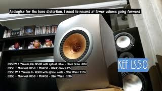 KEF LS50W vs KEF LS50 sound demo (Since I already filmed it)