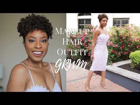 GRWM   FRESH WEARABLE SPRING MAKEUP, HAIR & OUTFIT   SOFT PINK MAKEUP LOOK