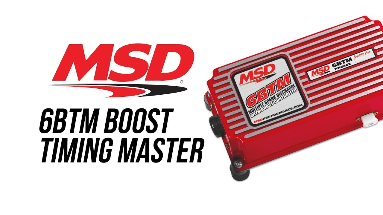 msd 6 btm boost timing master  msd performance ignition