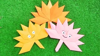 Оригами из бумаги | Кленовый лист | Осенние поделки своими руками(Оригами из бумаги - кленовый лист. Легкая осенняя поделка. В этом уроке я покажу, как сделать такие веселые..., 2016-09-18T09:03:20.000Z)