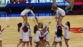 Marist College Cheerleaders and Dance Team Performs vs Quinnipiac Men
