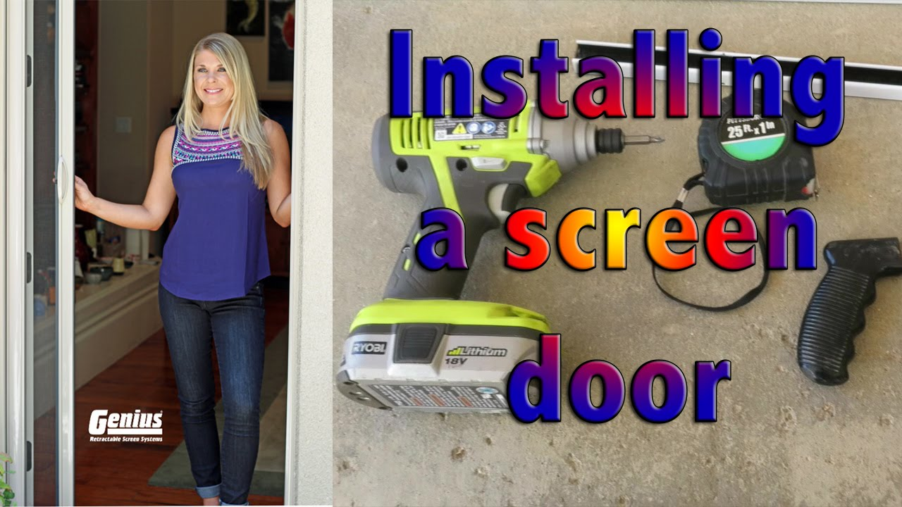 Costco genius screen door install tips youtube costco genius screen door install tips rubansaba
