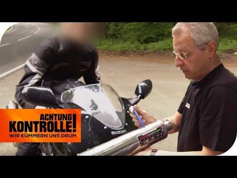 Verbotener Auspuff! Motorrad doppelt so laut wie erlaubt! | Achtung Kontrolle | kabel eins