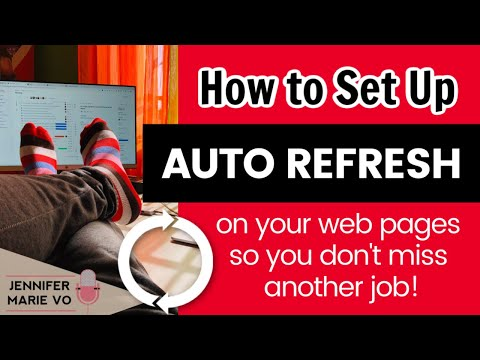 How To Auto Refresh Your Web Page In Google Chrome To Get MORE JOBS And Be Notified Instantly!