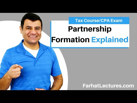 Partnership formation - CPA exam regulation REG ch 21 p 2