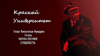 """""""Наука Логики"""" Гегеля. Сущность. Попов М.В."""