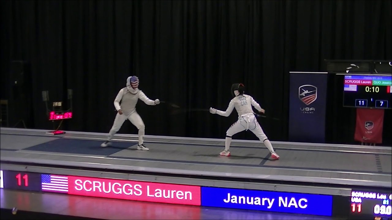 2019 January North American Cup Junior Women's Foil Gold: Scruggs vs. Guo AN