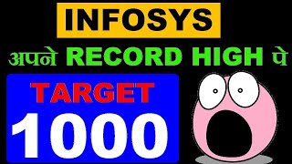 Infosys share All time Record High पे ( Target = 1000 ) in Hindi by SMkC