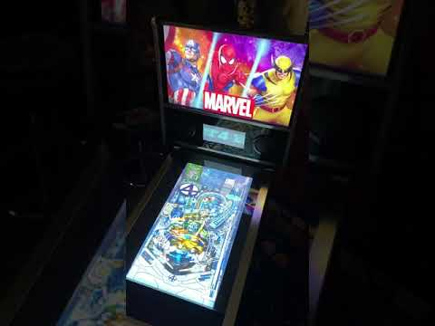 Arcade1up Marvel Pinball: Fantastic Four Table Gameplay 60FP from Kelsalls Arcade