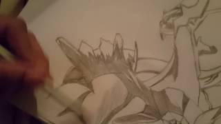 How to draw Dialga from pokemon diamond. :D