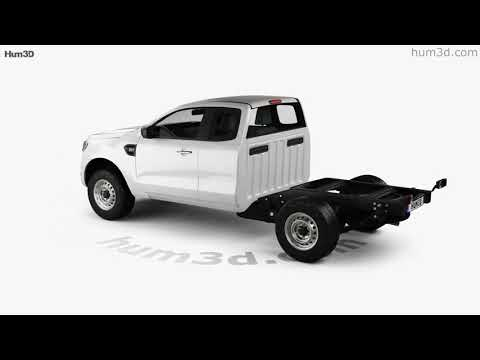 Ford Ranger Super Cab Chassis XL 2018 3D model by Hum3D.com