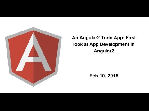 An Angular2 Todo App: First look at App Development in Angular2