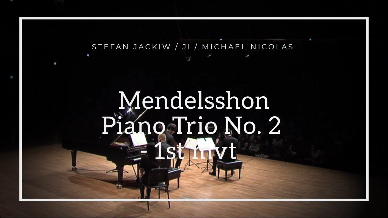 [스테판 피 재키브, 지용, 마이클 니콜라스] 멘델스존 피아노 삼중주 2번 1악장 Mendelsshon Piano Trio No. 2 - 1st mov