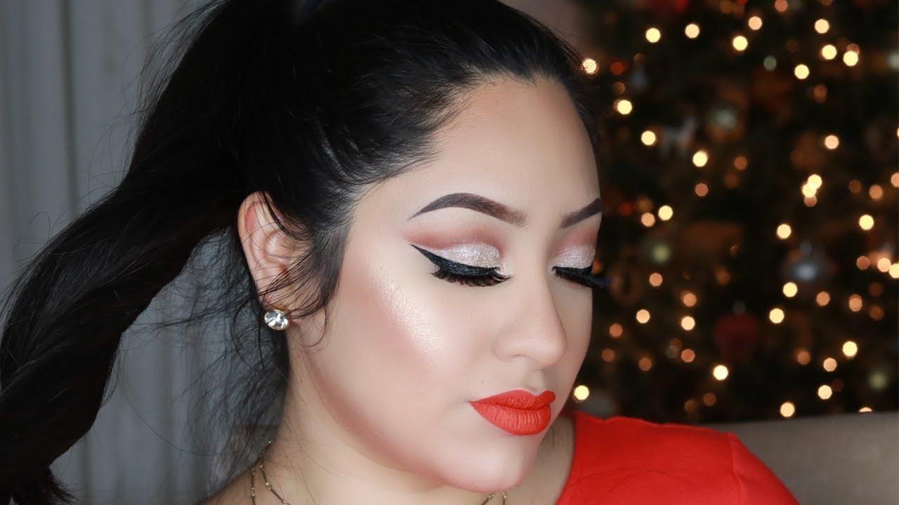 Maquillaje Para Vestido Rojo Maquillaje Para Navidad
