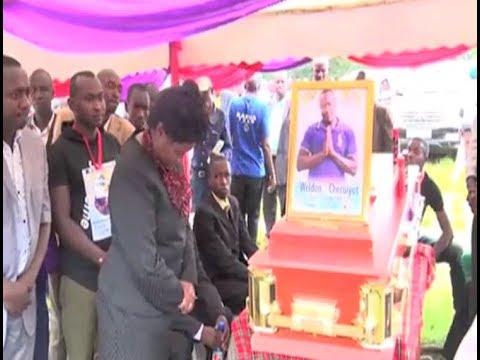 Late musician Weldon Cheruiyot AKA 'Keneni' buried at his Bomet home