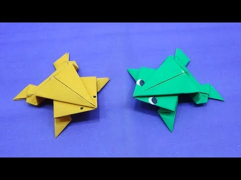 How To Make a Paper Jumping Frog | Make Easy Origami Frog That Jumps High And Far | Easy DIY