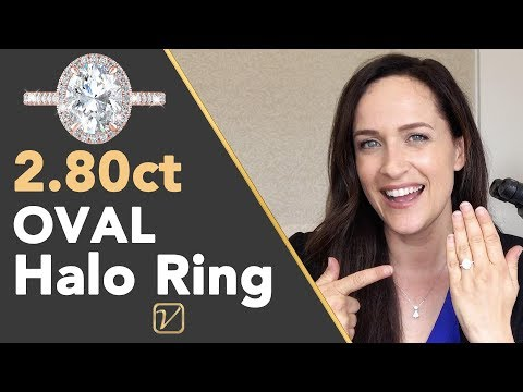 Oval Cut Engagement Ring - What Makes This Halo Design SPARKLE More Than Others