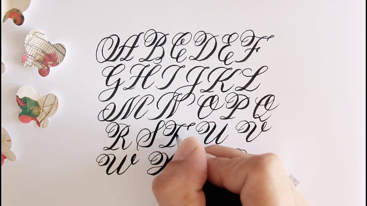 how to write in calligraphy   alphabet   easy way for beginners