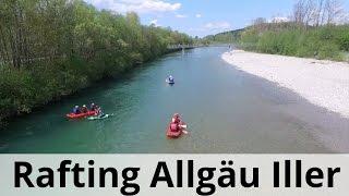 Rafting Allgäu - Paddeltour auf der bayerischen Iller bei Oberstdorf
