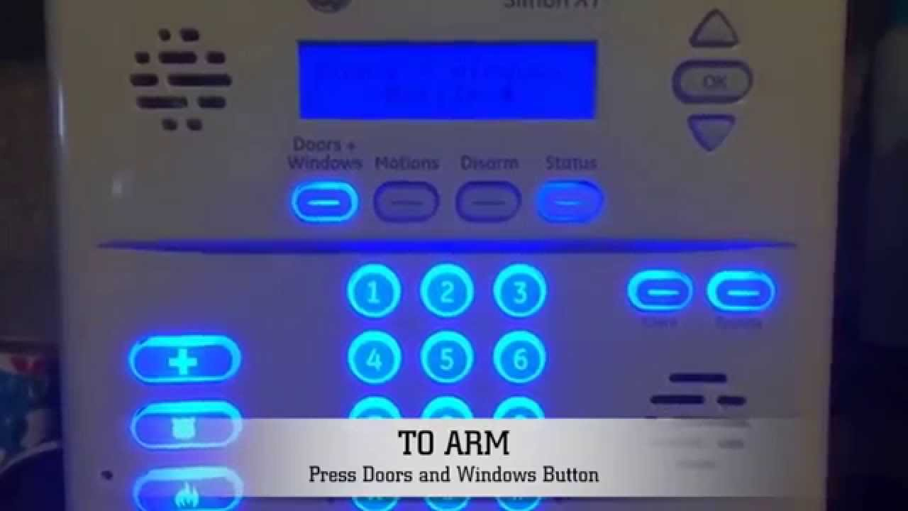 Adt Security Systems >> How to Arm and Disarm GE Simon XT Home Security System from Keypad - YouTube
