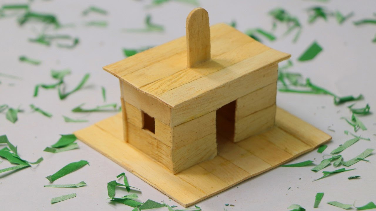 How To Make Popsicle Stick Dog House Wooden Dog House At Home