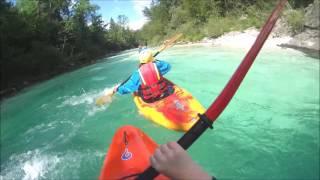 Kayaking Soca Slovenia 2017