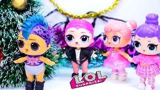 Куклы ЛОЛ Сюрприз Сборник Новогодних серий! Мультики и игрушки Dolls LOL Surprise