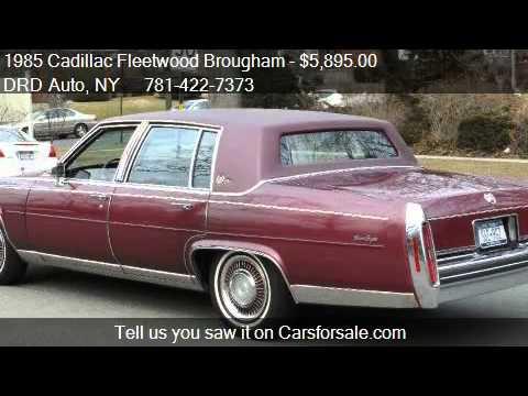 1985 Cadillac Fleetwood Brougham Brougham Sedan DELEGANCE f  YouTube