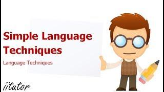 √ Simple Language Techniques | English