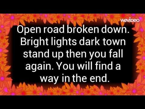 Stan Walker- Take it easy - Lyrics