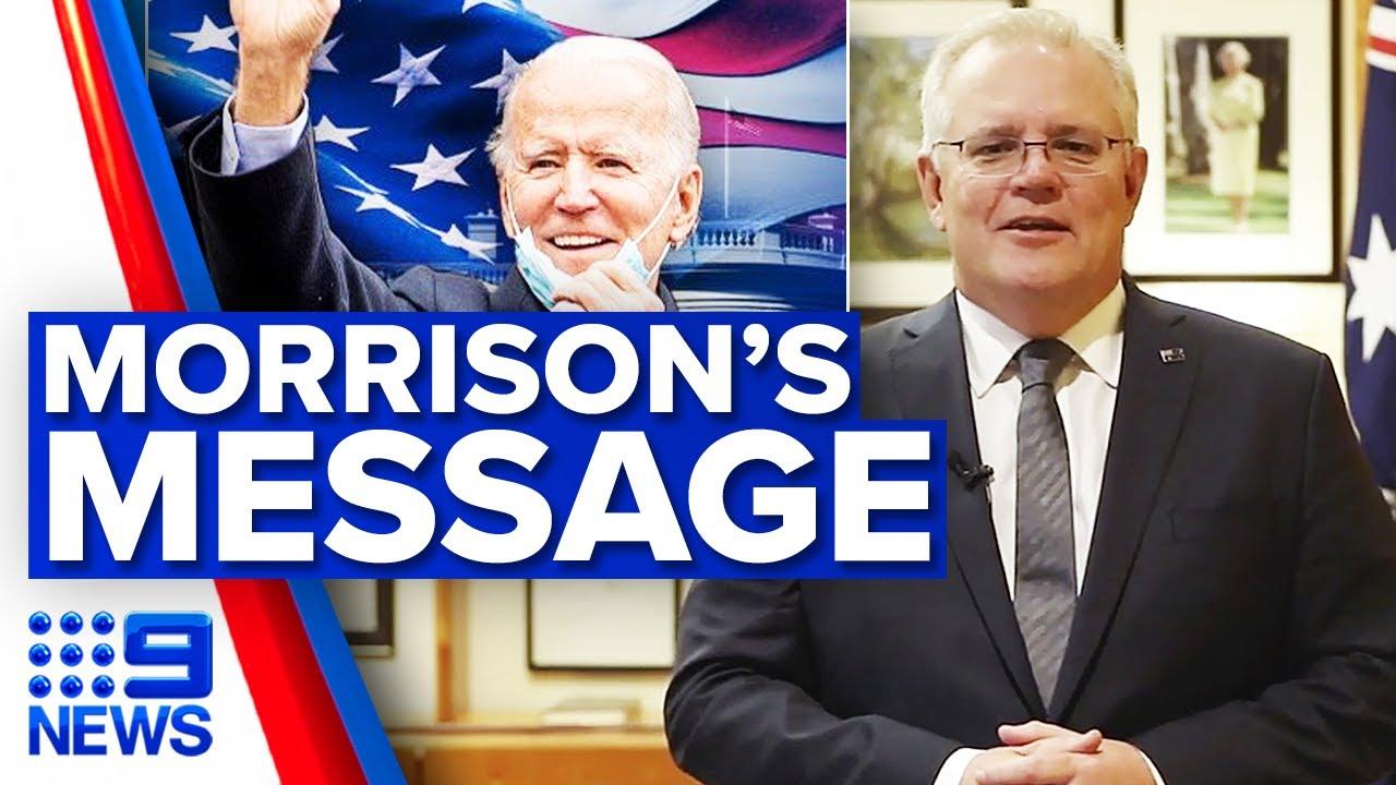 Scott Morrison congratulates President-elect Joe Biden | 9 News Australia