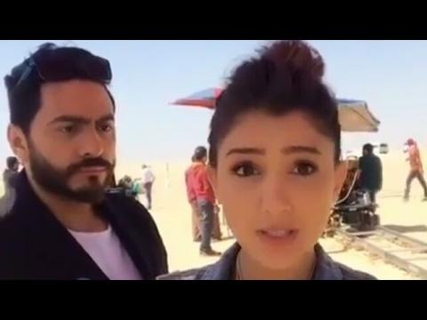 تامر حسني يقصف جبهة مي عمر وهي تغني كل حاجه بينا! thumbnail